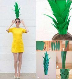 Fantasias Carnaval 2018 – Veja 20 idéias de Fantasias CRIATIVAS para curtir o c… Carnival Costumes 2018 – See 20 CREATIVE Costume ideas to enjoy the carnival! You can make your costume at home, CHEAP costumes, check out the tips and good carnival. Food Halloween Costumes, Fruit Costumes, Creative Costumes, Family Costumes, Carnival Costumes, Halloween Kostüm, Diy Costumes, Pineapple Costume