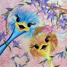 donna dewberry ostriches - Google Search