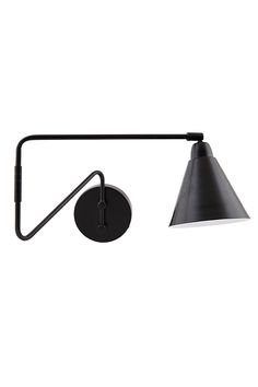 The Carter Retro Industrial Side Wall Lamp in Black/White is constructed from iron and is finished in a stylish matt black.