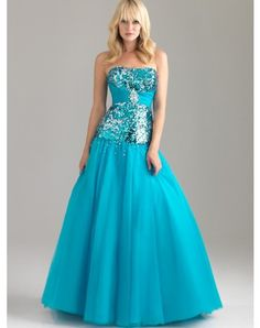 A-line Strapless Paillette Sleeveless Floor-length Chiffon Prom Dresses / Evening Dresses (SZ021593 )