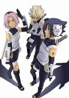 Team Kakashi, or Team 7, is a team led by Kakashi Hatake and was formed after the members became genin. Members were selected to balance their talents: Naruto Uzumaki, Sakura Haruno, and Sasuke Uchiha. Kakashi was chosen to lead Team 7 for two reasons: Being a student of Naruto's father and given the task of keeping the Nine-Tails at bay while unknowingly honouring the promise Hiruzen Sarutobi made to Itachi Uchiha in secret to keep his younger brother safe and from going down a dark path.