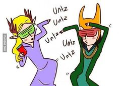 Thranduil and Loki!  UNTZ UNTZ UNTZ UNTZ! They're like the embarrassing chaperones at the school dance!