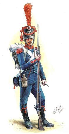 Carabiniere di un rgt. di fanteria francese
