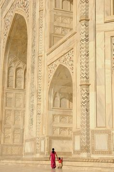 Pleasant Taj Mahal - Agra, #India #travel <-It's like a painting