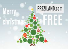 Free Prezi template with colorful Christmas tree. Has background animation and christmas song. Works like animated Christmas greeting e-card with autoplay http://preziland.com/