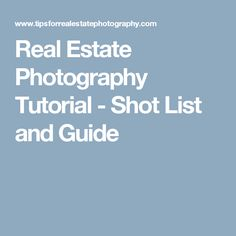 Camera Settings For Interior Real Estate Photography Photography