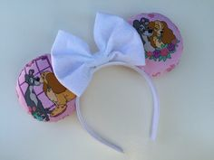 Hey, I found this really awesome Etsy listing at https://www.etsy.com/listing/220028258/lady-and-the-tramp-minnie-mouse-ears