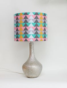 What do you think of this new tribal-esque shade? Lamp Shade  12 Drum  Geometric  Tribal by MOODDESIGNSTUDIO on Etsy