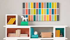 Make a bold, colorful statement with these wall panels. You can paint in colors that complement the decor in any room.