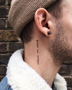 small word neck tattoos for women - small word neck tattoos - small word neck tattoos for women - small word tattoos on neck - neck tattoos women small word Small Neck Tattoos, Side Neck Tattoo, Neck Tattoos Women, Neck Tattoo For Guys, Tattoos For Women Small, Small Male Tattoos, Tattoo Words, Japanese Tattoos