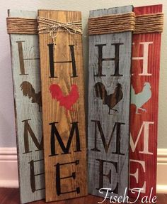 Rooster Home Sign Welcome Rooster sign Home sign with Rooster- Wooden home sign Country wood DIY Wood Signs Country Home rooster Sign Wood Wooden Pallet Art, Diy Pallet Projects, Woodworking Projects, Fall Pallet Signs, Pallet Ideas, Projects With Wood, Woodworking Tools, Youtube Woodworking, Popular Woodworking