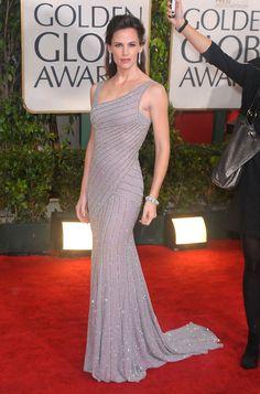 31. Red Carpet Beauty Jennifer Garner in dazzling Versace showing her flawless figure, Golden Globes 2010