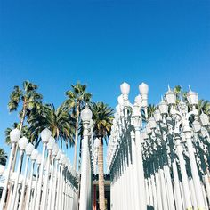 The 30 Most Instagrammed L.A. Landmarks #refinery29 http://www.refinery29.com/popular-los-angeles-landmark-photos#slide-10 LACMA Sure, LACMA's Urban Light installation was already popular, but the No Strings Attached scene with Ashton Kutcher and Natalie Portman made these the most sought-after lampposts on all of Instagram. LACMA, 5905 Wilshire Boulevard (at South Fairfax Avenue); 323-857-6000.
