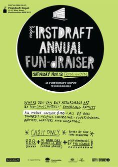 poster for firstdraft annual fundraiser, via kirrajamison.com.
