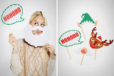 15 Holiday Photo Booth Props to Make You LOL via Brit + Co