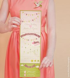 Party Banners Folding Wedding Invitation Sample for Stassney