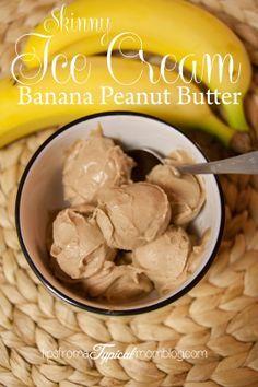 Two ingredient Skinny Banana Peanut Butter Ice Cream