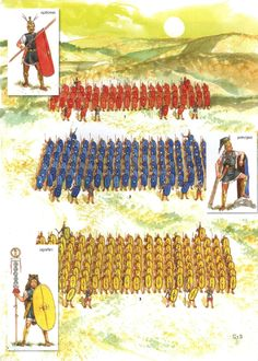 A republican legion set up in its three ranks during the post-Camillan reforms. The three ranks in a Manipular Legion were the Hastati ( in front ), Principes ( in middle ), and Triarii ( at the back ).