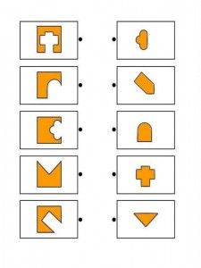 Printable brain teaser worksheets for kids in preschool, kindergarten, grade make square shapes by adding each shape on the left to a shape on the right. Test For Kids, Math For Kids, Puzzles For Kids, Preschool Learning, Kindergarten Worksheets, Worksheets For Kids, Education Positive, Kids Education, Infant Activities