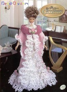 vestido de boneca em crochê