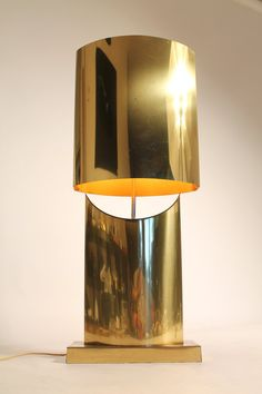 CURTIS JERE rare brass plated table lamp mid by VINTAGELAMPDEN