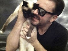 Ricky Gervais & Ollie    (ollie has a facebook page-go visit & friend)