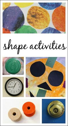Simple hands-on preschool shape activities - go on a shape hunt and try out a few extension activities