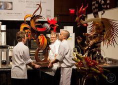The All-American Pastry Team Earns the Coveted Prize for Best Dégustation and Silver Medal Overall at The World Pastry Championships Chocolate Fondant, Chocolate Art, Chocolate Designs, Blown Sugar Art, Pulled Sugar Art, French Pastry School, Chocolate Showpiece, Food Sculpture, Creative Food Art