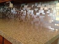 Kitchen counter and mosaics