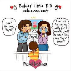 Natalia Sabransky is an artist and a happy mom. Having lived through all the joys and hardships of motherhood, she has drawn a series of wonderfully truthful comic strips about situations known to every mom in the world. Baby Love Quotes, Anime Muslim, Pregnancy Guide, Baby Blog, Happy Mom, Daily Funny, Mom Humor, Mom And Baby, Best Mom