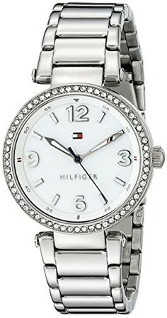 Tommy Hilfiger Womens 1781589 Analog Display Quartz Silver Watch ** You can find out more details at the link of the image.
