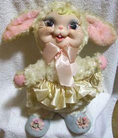 1960's Rushton rubber face rabbit