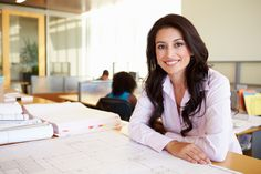 Photo about Female Architect Studying Plans In Office Smiling To Camera. Image of architect, desk, blueprint - 37220247 Money Isn't Everything, Best Places To Work, Best Insurance, Insurance Quotes, Health Insurance, Business Women, Business Tips, Entrepreneurship, How To Become