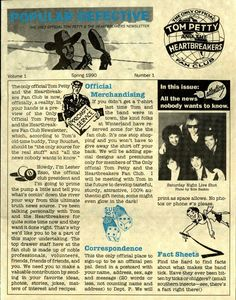 Tom Petty fan club letter, spring 1990. Travelling Wilburys, Tom Petty, Eternal Love, Poster Prints, Posters, Toms, Hero, Lettering, My Love