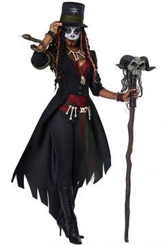 Cosplay Zinogre Adult Women's Vodoo Magic Witch Doctor Costume Mardi Gras Halloween New Orleans - Voodoo Priestess Costume, Voodoo Costume, Witch Costumes, Mardi Gras Costumes, Queen Costume, Adult Costumes, Voodoo Dolls, Witches Costumes For Women, Woman Costumes