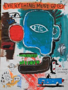 Jean-Michel Basquiat - Everything Must Go Jean Michel Basquiat, Jm Basquiat, Basquiat Tattoo, Tachisme, Sgraffito, Pop Art Andy Warhol, Keith Haring, Basquiat Paintings, Neo Expressionism