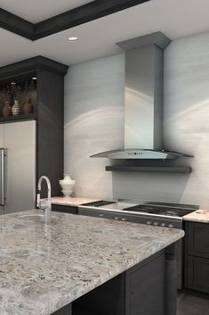 ZLINE 30 in. 400 CFM Wall Mount Range Hood in Stainless Steel has a modern design and built-to-last quality that would make it a great addition to any home or kitchen remodel. This hoods high-performance Kitchen Island Hood Ideas, Kitchen Hood Design, Kitchen Vent Hood, Kitchen Ideas, Kitchen Trends, Stainless Steel Range Hood, Stainless Backsplash, Kitchen Backsplash, Kitchen Cabinets