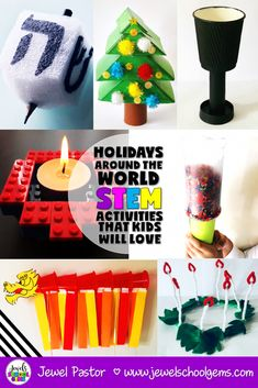 With a little breathing room between now and Christmas, it's the perfect time to look at Holidays Around the World STEM activities! Holidays Around The World, Holidays With Kids, Around The Worlds, Winter Holidays, December Holidays, Winter Fun, Happy Holidays, January, Holiday Activities For Kids