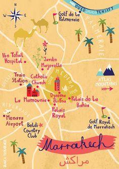 Map of Marrakech, Morocco, by Bianca Tschaikner
