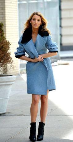 Blue wrap jacket   Image via fashionologie.com