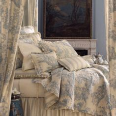 french toile bed linens
