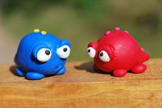 Glumps made of polymer clay