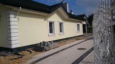 Widok domu z tyłu  #dom #projekt #budowa