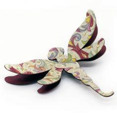 Joyas de Papel Basic Broche Libelula | Dragonfly Joyas de Papel Realizado con papel resistente. Más info en www.joyasdepapel.com