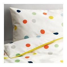 IKEA - DRÖMLAND, Bettwäsche 2-tlg. f Baby, , Ein Bettbezug-Set aus Baumwolle und Lyocell, natürliche Materialien, hautfreundlich…