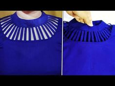 Latest Unique Neck Design Cutting And Stitching Tutorial In Bangla {Step By Step} New neck design Chudidhar Designs, Chudidhar Neck Designs, Salwar Neck Designs, Neck Designs For Suits, Kurta Neck Design, Saree Blouse Neck Designs, Neckline Designs, Fancy Blouse Designs, Dress Neck Designs