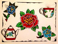 Tea n roses   Mike Attack New York, NY For appointments/inquires E-mail Mikeattacktattoo@gmail.com Instagram @Mikeattack_tattoo Facebook.com/Tattoosbyattack
