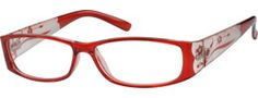 Red Plastic Fashion Full-Rim Frame