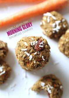 Morning Glory Breakfast Cookies...healthy, flourless, vegan and gluten-free!