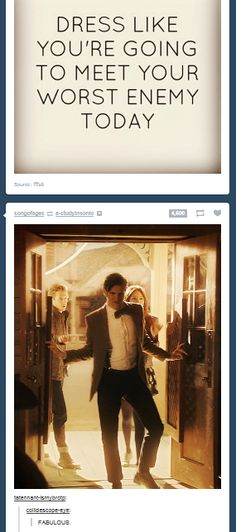 Ok. It's official. I am in love with the internet. And the Doctor. Nope. Nope. Nobody can say anything.